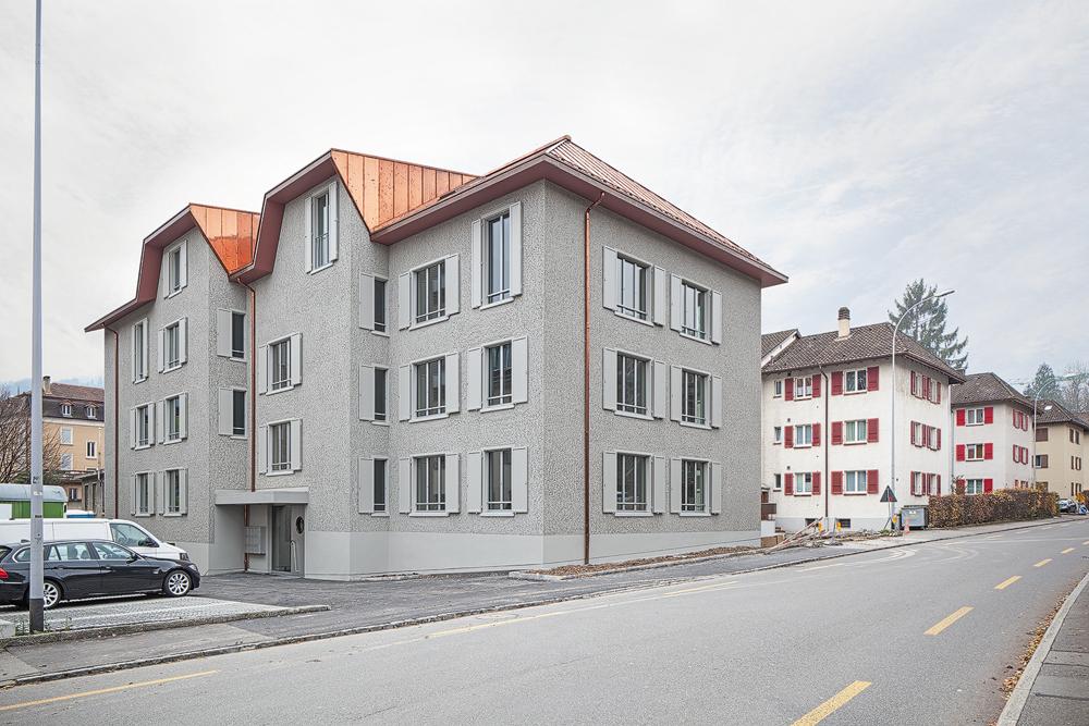 Lukas Schaffhuser Architekturfotografie Zuerich Haltmeier Kister Schachenstrasse Fassade Nord Ost