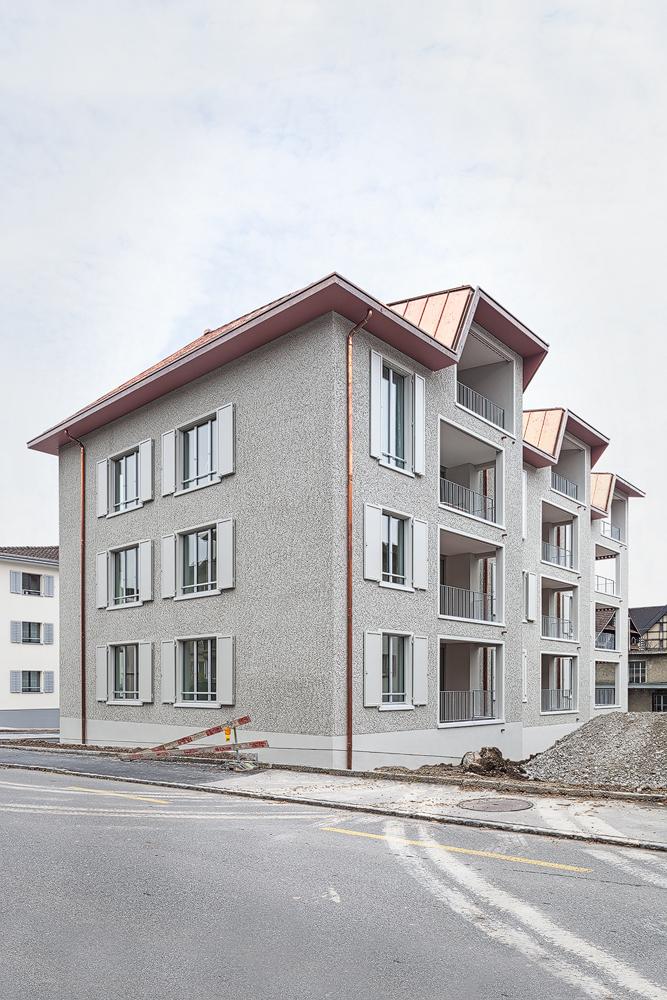 Lukas Schaffhuser Architekturfotografie Zuerich Haltmeier Kister Schachenstrasse Fassade Nord West