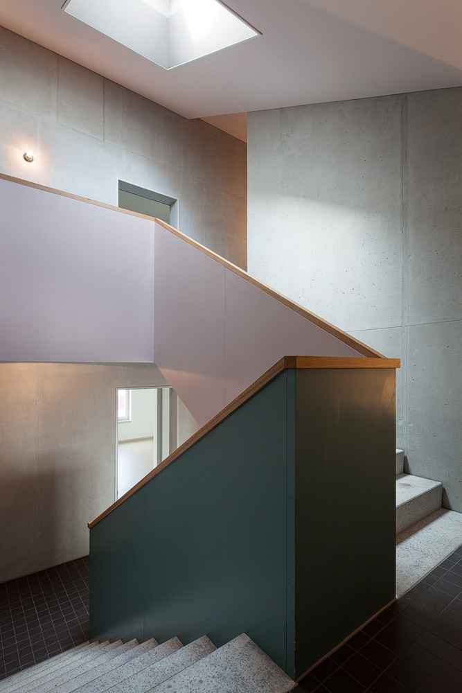 Lukas Schaffhuser Architekturfotografie Zuerich Haltmeier Kister Schachenstrasse Treppenhaus 2