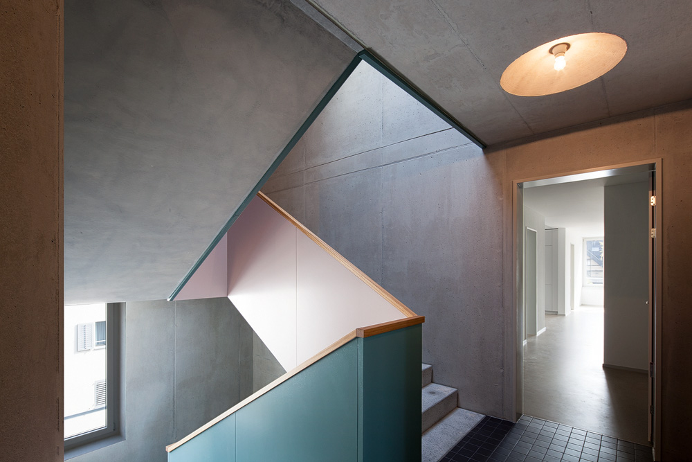 Lukas Schaffhuser Architekturfotografie Zuerich Haltmeier Kister Schachenstrasse Treppenhaus 1