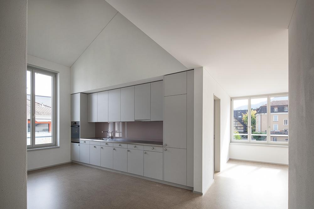 Lukas Schaffhuser Architekturfotografie Zuerich Haltmeier Kister Schachenstrasse Dach Wohnung 3