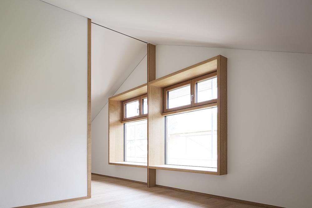 Lukas Schaffhuser Architekturfotografie Zuerich Stereo Architektur Umbau EFH-Moos Zwillingszimmer 01