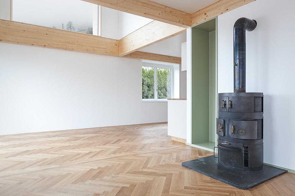 Lukas Schaffhuser Architekturfotografie Zuerich Stereo Architektur Seehuisli Wohnraum 2