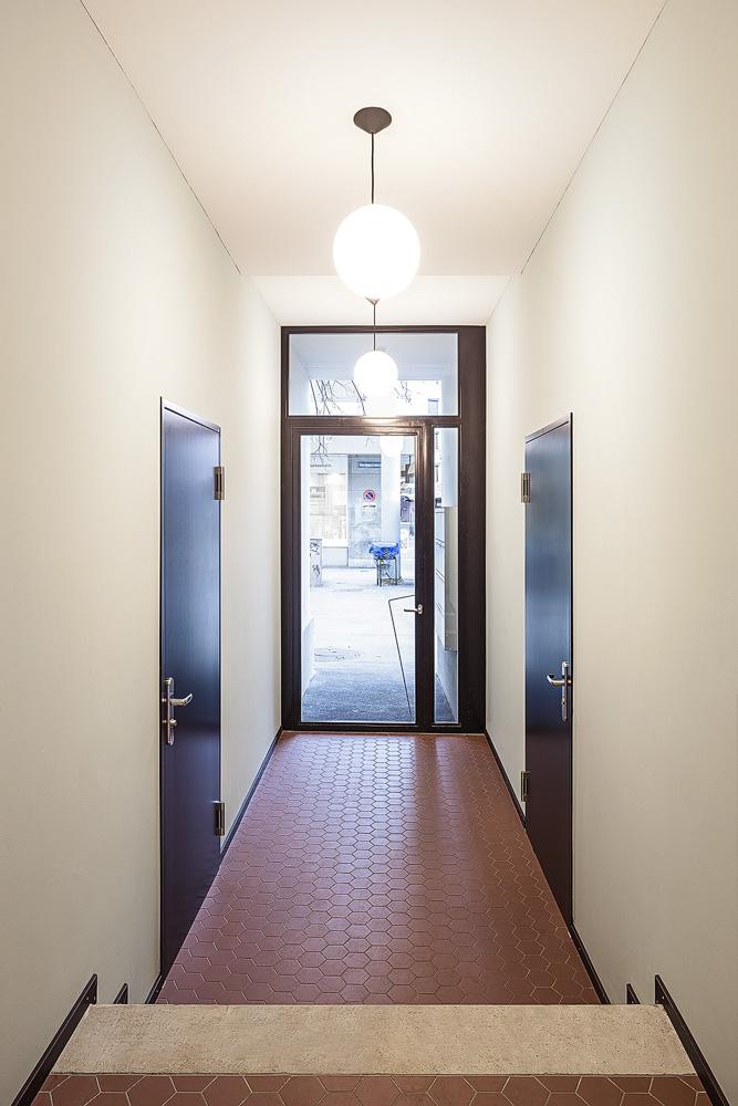 Lukas Schaffhuser Architekturfotografie Zuerich Haltmeier Kister Hardaustrasse Eingang 1
