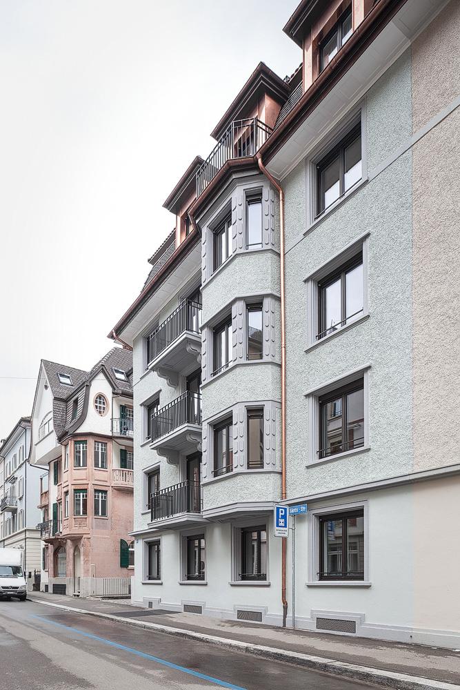 Lukas Schaffhuser Architekturfotografie Zuerich Nimbus Architekten Saentisstrasse Zuerich Ansicht Strasse 1