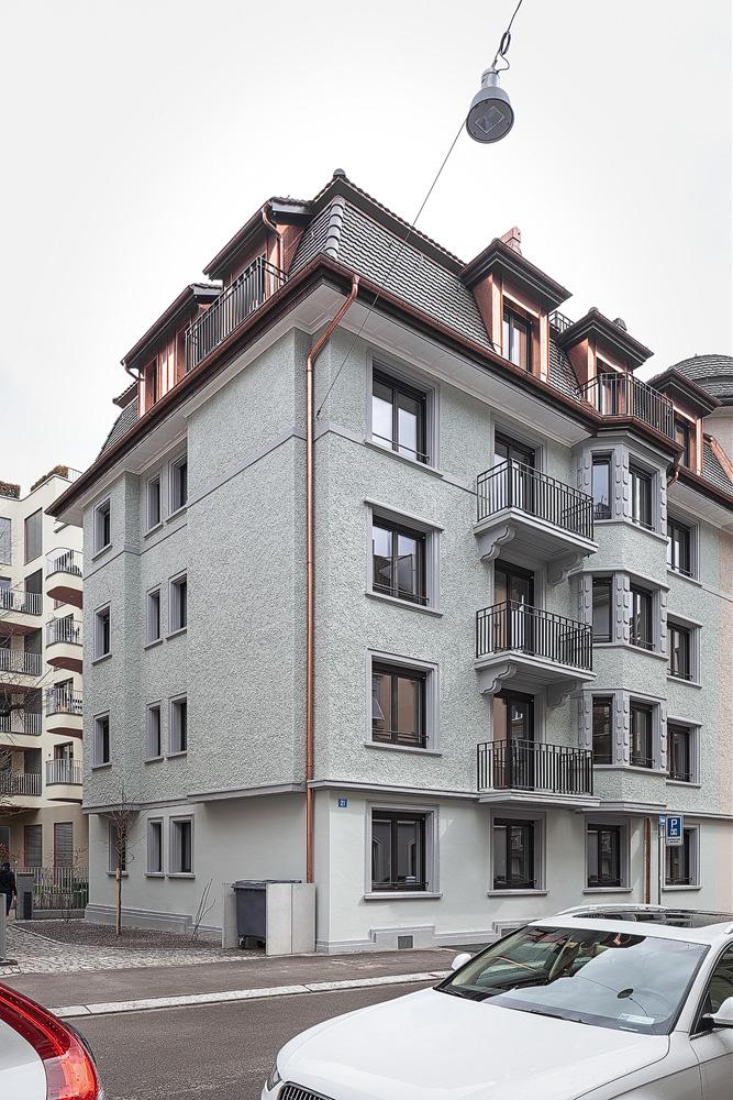 Lukas Schaffhuser Architekturfotografie Zuerich Nimbus Architekten Saentisstrasse Zuerich Ansicht Strasse 2