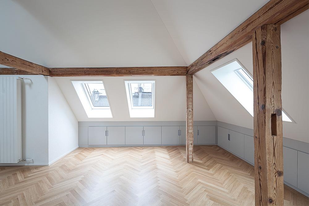 Lukas Schaffhuser Architekturfotografie Zuerich Nimbus Architekten Saentisstrasse Zuerich Dachwohnung