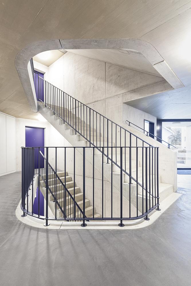 Lukas Schaffhuser Architekturfotografie Zuerich Haltmeier Kister Schneebeliweg Treppenhaus 01